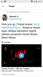 Superstar Rajinikanth Is Back With His Trademark Punchlines In The Kaala Teaser, Film Companion