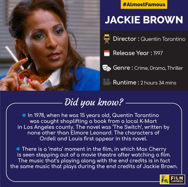 Almost Famous: Quentin Tarantino's Jackie Brown, Film Companion