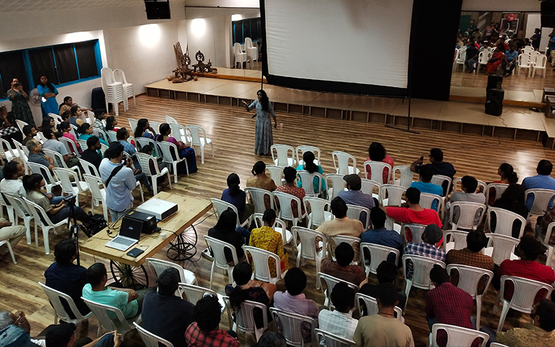 The audience at the inaugural of PK Rosy Film Society
