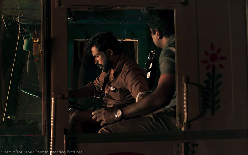 Karthi and Narain in Kaithi