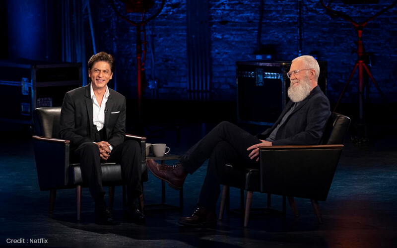 Sharh Rukh Khan David Letterman Netflix