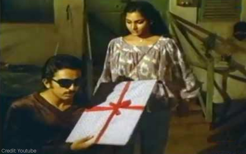 Kamal Haasan and Madhavi in Raajapaarvai