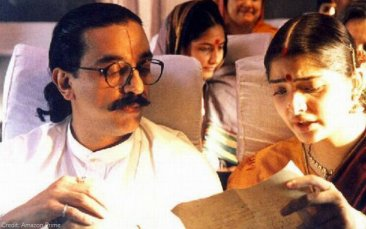 Kamal Haasan and Vasundhara Das in Hey Ram