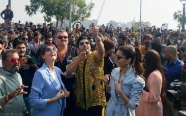 Varun Dhawan promoting Street Dancer in Gujarat