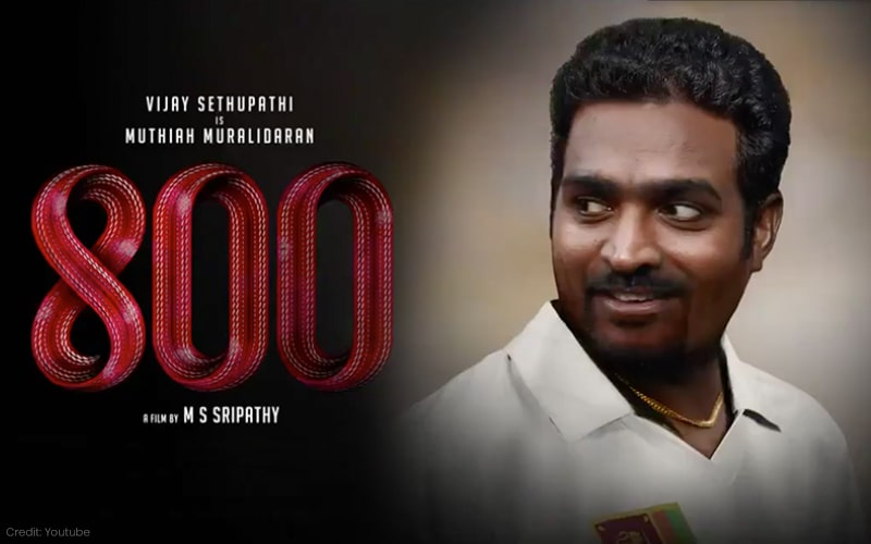 800 Motion Poster: Vijay Sethupathi's Uncanny Resemblance to Cricketer Muttiah Muralitharan, And Some Protests