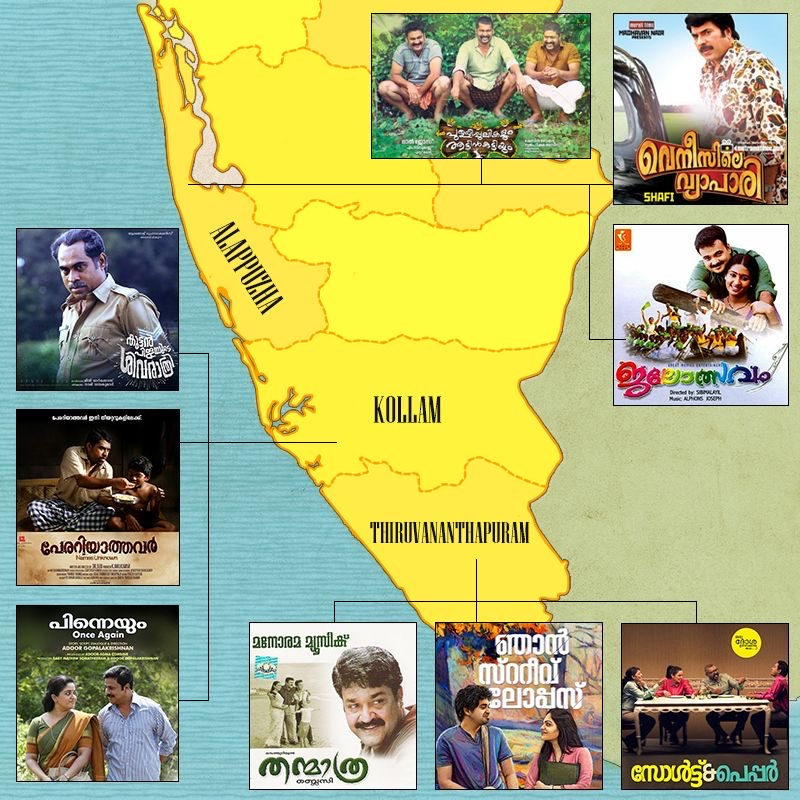 In Pictures: Mapping Kerala's Movies And The Places They're Set In