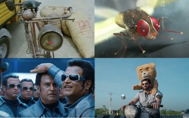 A Teddy Bear In 'Teddy', A Fly In 'Eega', A Robot In 'Enthiran'... Ten Times Animals And Machines Became Characters In South Indian Films