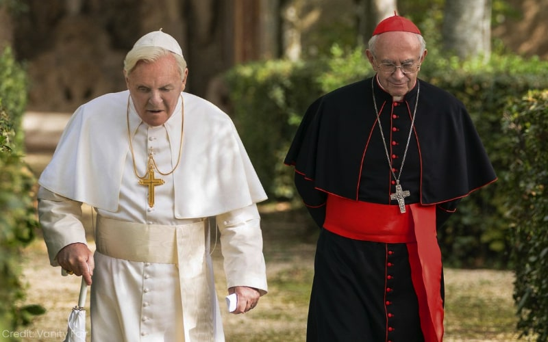 Visual Conflict In The Two Popes, Film Companion
