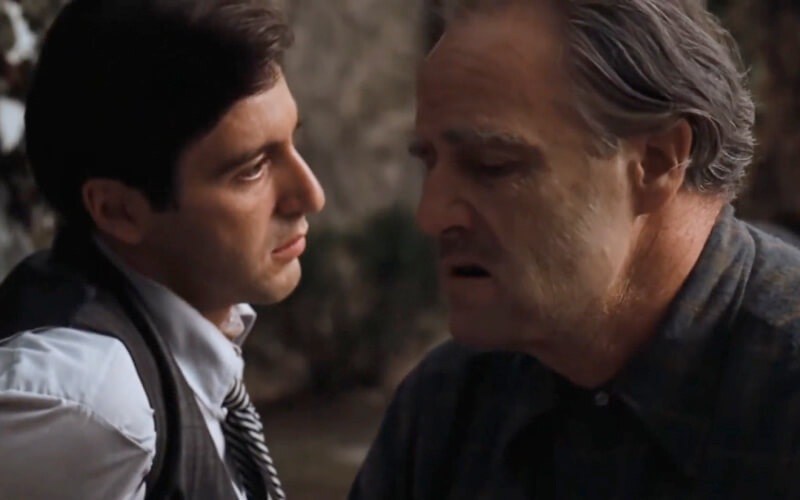 On The Garden/Patio Scene From The Godfather, Film Companion